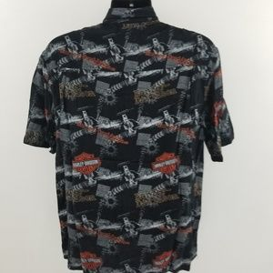 Harley-Davidson Shirts - Harley Davidson botton down shirt L F47
